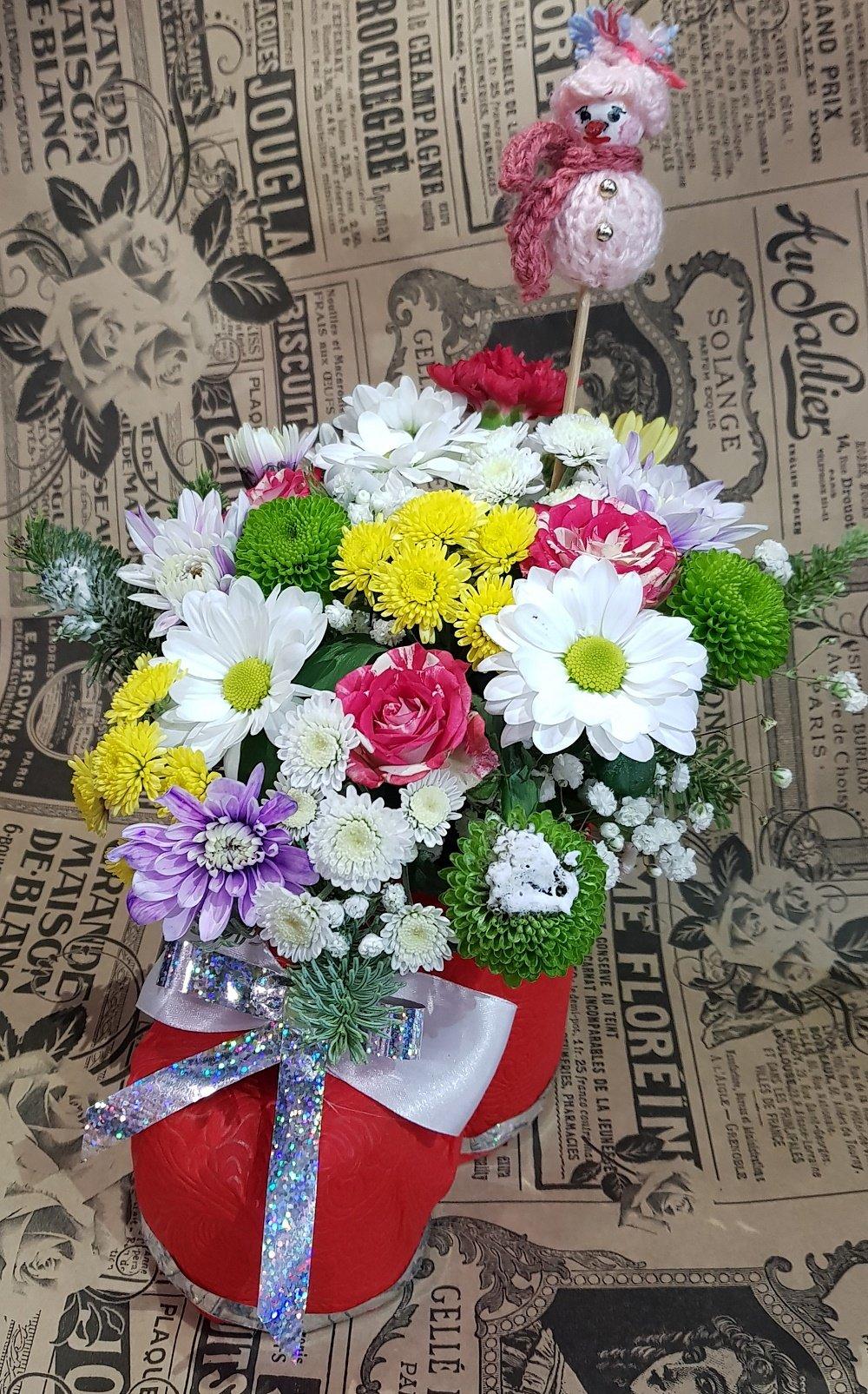 Рынок цветов, магазин цветов васильков