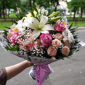 """Букет """"Лилия и Роза"""""""